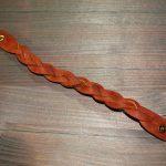 Плетенный кожаный светло-коричневый браслет