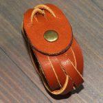 витой кожаный браслет