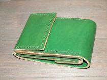 Ярко-зеленый кошелек из натуральной кожи